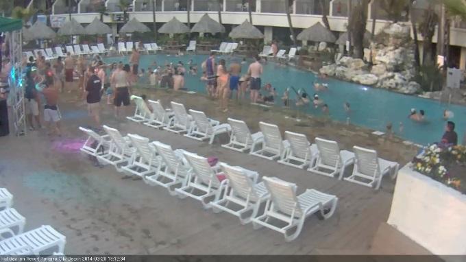 бассейн, курортный комплекс Holiday Inn. Панама Сити, Флорида (США)