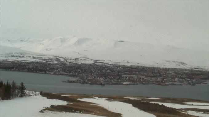 залив Эйя-фьорд. Акюрейри (Исландия)