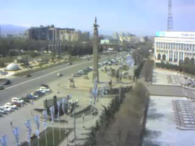 площадь Республики. Алма-Ата (Казахстан)