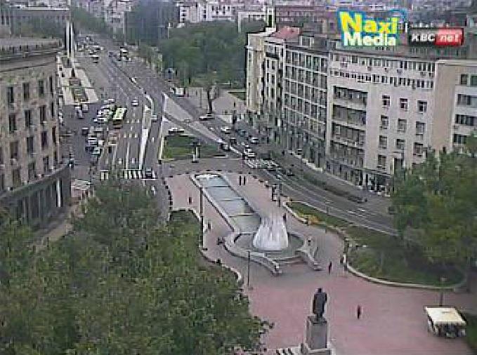 площадь Николы Пашича. Белград (Сербия)