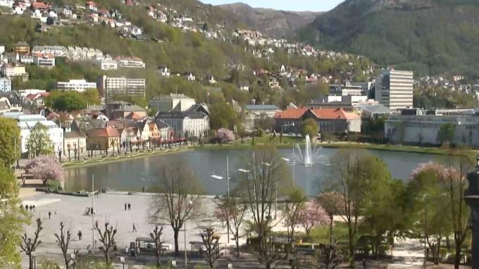 площадь Фестплассен. Берген (Норвегия)