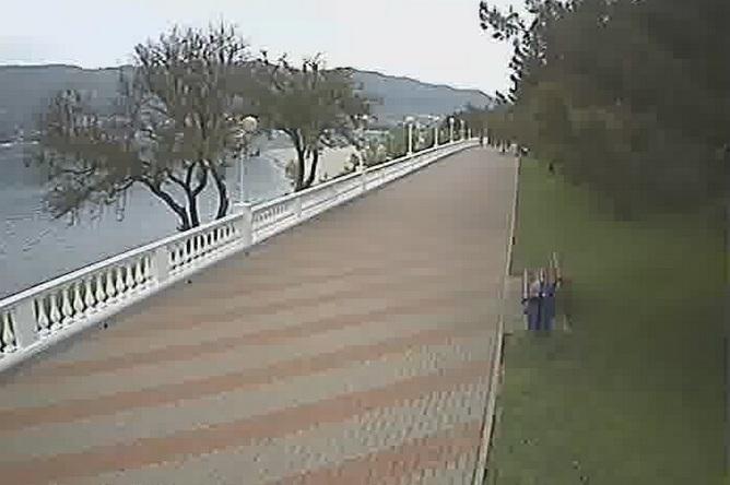 бульвар и пляж «Сады морей». Геленджик (Россия)