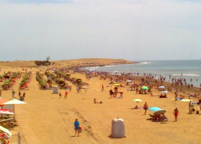 пляж Maspalomas. Гран-Канария. Канарские острова (Испания