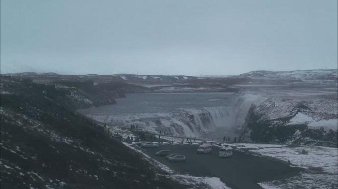 золотой водопад Гюдльфосс (Исландия)