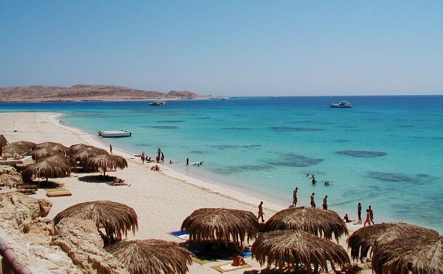 пляж. Хургада (Египет)
