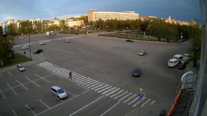 Сквер им. Кирова. Иркутск (Россия)
