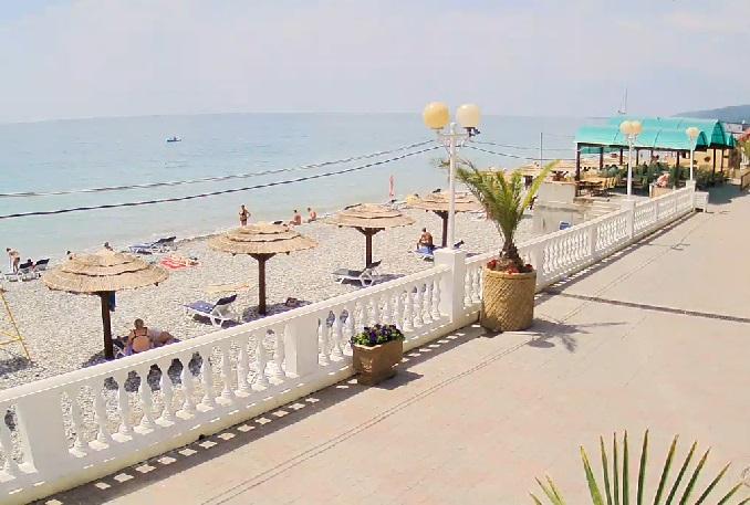пляж, Гостиница Laza Hall. Лазаревское (Россия)