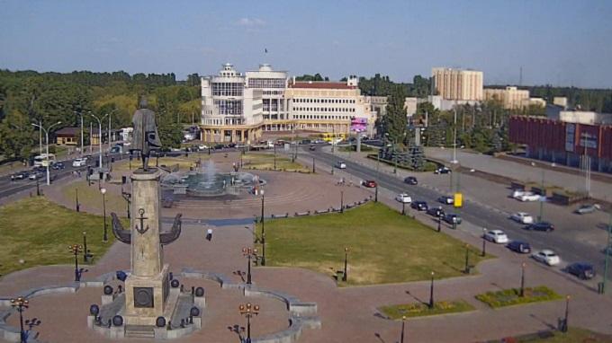 площадь Петра Великого. Липецк (Россия)