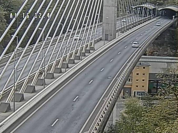мост, въез в тоннель Howald. Люксембург