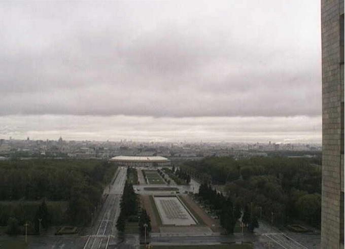панорама Москвы, вид со здания МГУ