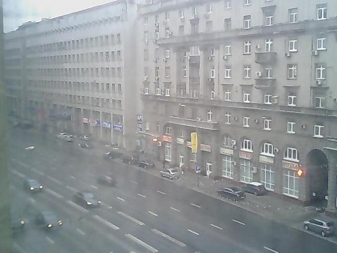 проспект Мира, автострада. Москва (Россия)