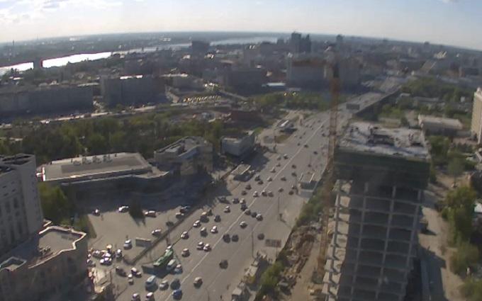 Октябрьская магистраль. Новосибирск (Россия)