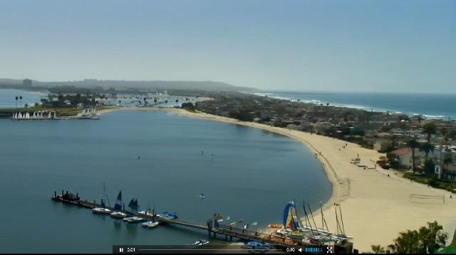пляж, отель Catamaran Resort and Spa 4*. Сан-Диего, Калифорния (США)