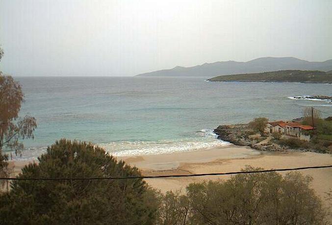 пляж Kalogria курорта Ступа. Пелопоннес (Греция)