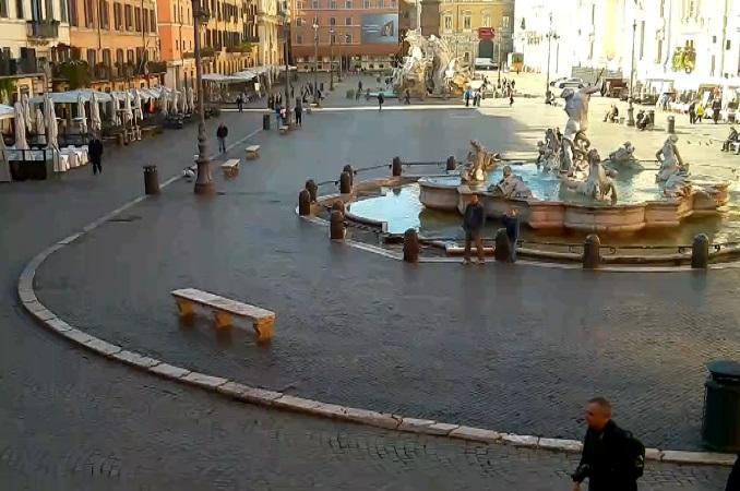 фонтаны Нептуна и Четырех рек, пл. Пьяцца Навона. Рим (Италия)