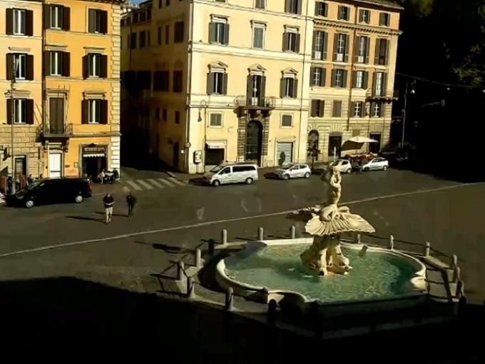 Площадь Барберини. Рим (Италия)