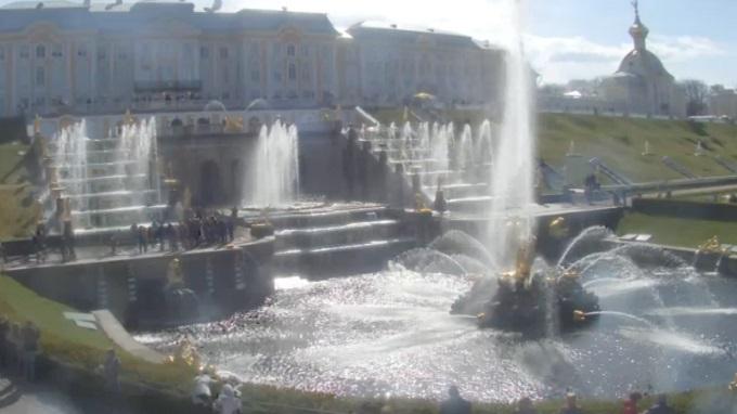 большой каскад фонтанов. Петергоф, Санкт-Петербург (Россия)
