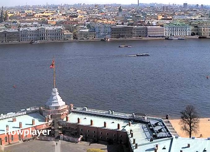 Петропавловская крепость, Дворцовый мост. Санкт-Петербург (Россия)