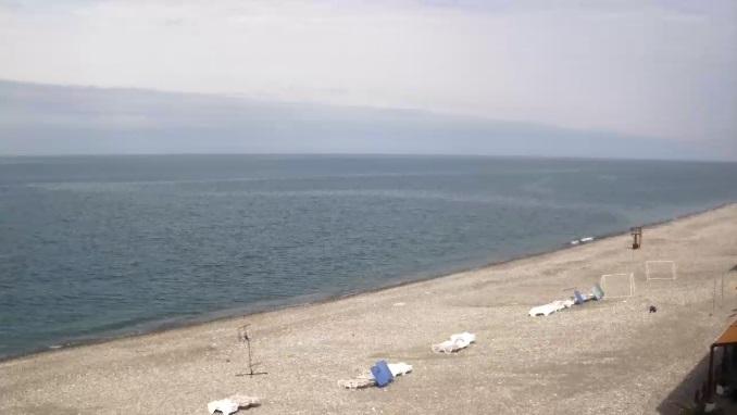 пляж, пансионат Шексна. п. Вардане, Сочи (Россия)