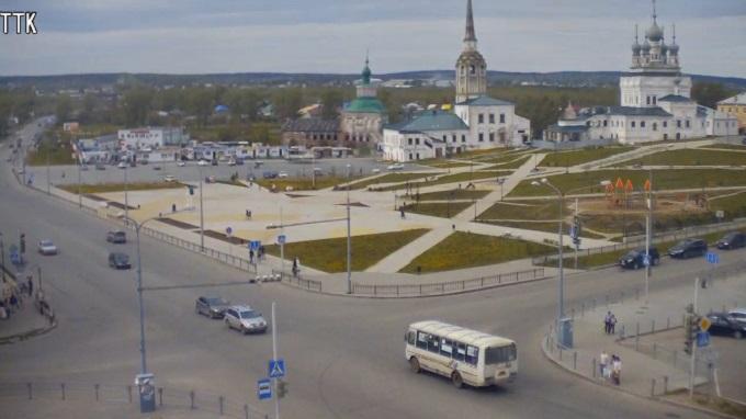 соборная площадь. Соликамск (Россия)