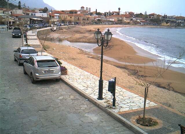 главный пляж курорта Ступа. Пелопоннес (Греция)
