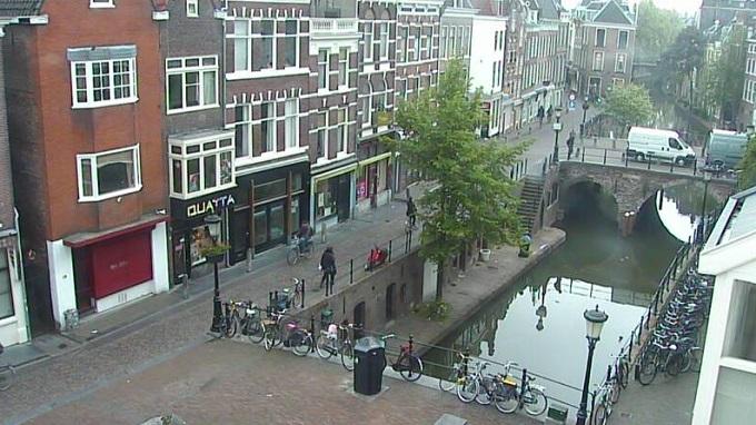 старый канал и рыбный рынок. Утрехт (Нидерланды)