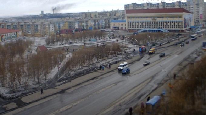 Центральная площадь. Воркута (Россия)